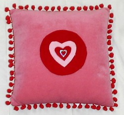 Heart Printed Pillow